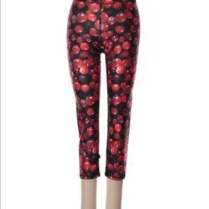 New! Zara Cherry 3/4 Length Active Pants